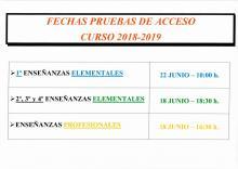 PRUEBAS DE ACCESO Y MATRICULACIÓN